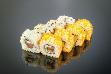 Tekka Roll  (8 Stück)  mit Thunfisch, Gurken und Frischkäse