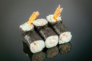 Maki Ebi ( 6 Stück)  mit Garnelenrolle