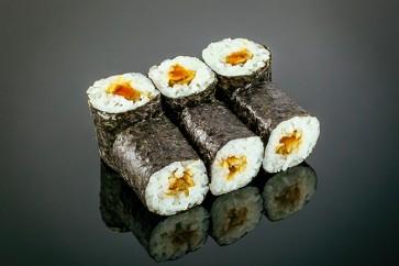 Maki Unagi  (6 Stück)  mit Süßwasseraal, Teriyaki-Sauce