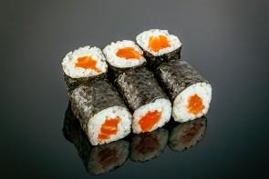 6 Maki Sake  ( 6 Stück) mit Lachs