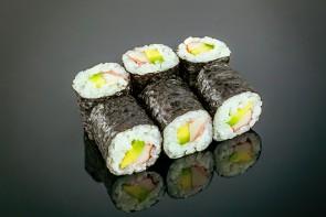 Maki California  ( 6 Stück) mit Surimi und Avocado